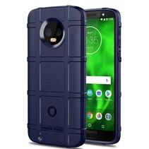 Motorola Moto G6 - Heavy Armor TPU Bumper - Blauw