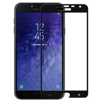 Samsung Galaxy J4 2018 - Full Cover Screenprotector - Zwart