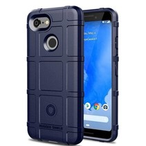 Google Pixel 3 - Heavy Armor TPU Bumper - Blauw
