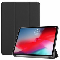 Apple iPad Pro 11 (2018) hoes - Tri-Fold Book Case - Zwart