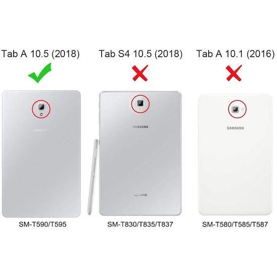 Case2go Samsung Galaxy Tab A 10.5 flip hoes - Zwart