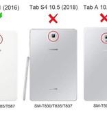 Case2go Samsung Galaxy Tab A 10.1 Tri-Fold Book Case Zwart
