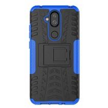 Nokia 7.1 Plus / 8.1 - Schokbestendige Back Cover - Blauw