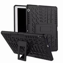 Huawei Mediapad T3 10 - Schokbestendige Back Cover - Zwart