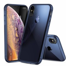 Dux Ducis - iPhone XS MAX hoesje - Light TPU Case - Back Cover - Transparant / Blauw