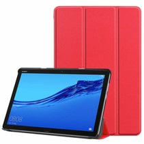 Huawei MediaPad M5 Lite 10.1 hoes - Tri-fold Book Case - Rood