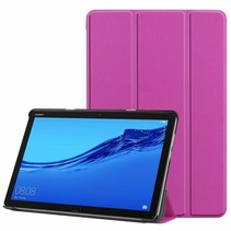 Huawei MediaPad M5 Lite 10.1 hoes - Tri-fold Book Case - Paars
