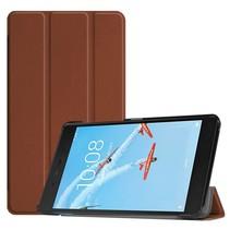 Lenovo Tab E7 hoes - Tri-Fold Book Case - Bruin