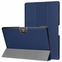 Acer Iconia tab 10 (A3-A50) Tri-fold Book Case - Donker Blauw