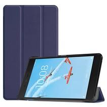 Lenovo Tab E7 hoes - Tri-Fold Book Case - Donker Blauw