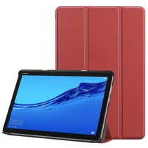 Huawei MediaPad M5 Lite 10.1 hoes - Tri-fold Book Case - Donker Rood