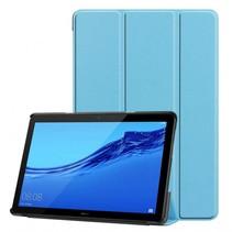 Huawei MediaPad T5 10 - Tri-fold Book Case - Licht Blauw