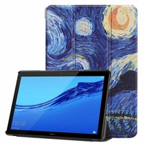 Huawei MediaPad T5 10 - Tri-fold Book Case - Sterrenhemel