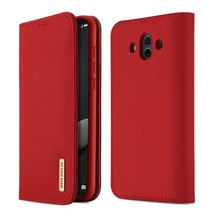 Wish Series Lederen Book Case Huawei Mate 10 - Rood