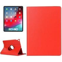 iPad Pro 12.9 (2018) - 360 graden draaibare hoes - Rood