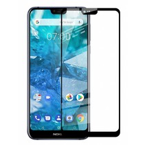 Nokia  8.1  - Full Cover Screenprotector - Zwart