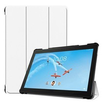 Lenovo Tab P10 hoes - Tri-fold Book Case - Wit
