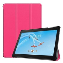 Lenovo Tab P10 hoes - Tri-fold Book Case - Magenta