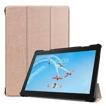 Lenovo Tab P10 hoes - Tri-fold Book Case - Rose-Gold