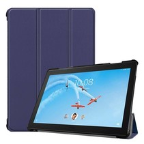 Lenovo Tab P10 hoes - Tri-fold Book Case - Donker Blauw