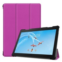 Lenovo Tab P10 hoes - Tri-fold Book Case - Paars