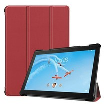 Lenovo Tab P10 hoes - Tri-fold Book Case - Donker Rood