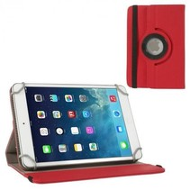 Universele Lenovo 7 inch draaibare tablet hoes - Rood