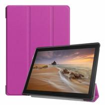 Lenovo Tab E10 hoes (TB-X104f) - Tri-Fold Book Case - Paars