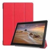 Lenovo Tab E10 hoes (TB-X104f) - Tri-Fold Book Case - Rood