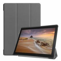 Lenovo Tab E10 hoes (TB-X104f) - Tri-Fold Book Case - Grijs