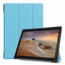 Lenovo Tab E10 hoes - Tri-Fold Book Case - Licht Blauw - (TB-X104f)