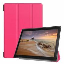Lenovo Tab E10 Hoes - Tri-Fold Book Case - Magenta - (TB-X104f)