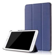 Samsung Galaxy Tab A 8.0 SM-T380 Tri-Fold Book Case - Donker Blauw