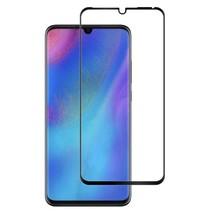Huawei P30 - Full Cover Screenprotector - Gehard Glas - Zwart