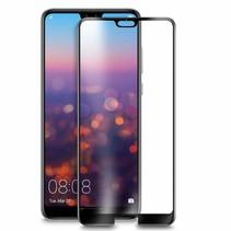 Huawei P30 Lite - Full Cover Screenprotector - Gehard Glas - Zwart