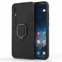Schokbestendige back cover met ring houder - Huawei P Smart 2019 - Zwart