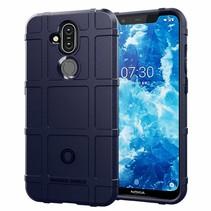 Nokia 7.1 hoes - Heavy Armor TPU Bumper - Blauw