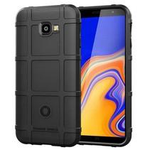 Samsung Galaxy j4 Plus hoes - Heavy Armor TPU Bumper - Zwart