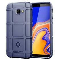 Samsung Galaxy j4 Plus hoes - Heavy Armor TPU Bumper - Blauw