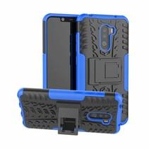 Xiaomi Pocophone F1 hoes - Schokbestendige Back Cover - Blauw
