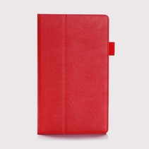 Lenovo tab 4 8.0 Plus hoes - Hand Strap Book Case - Rood