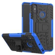 Schokbestendige Back Cover - Xiaomi Mi Max 3 - Blauw