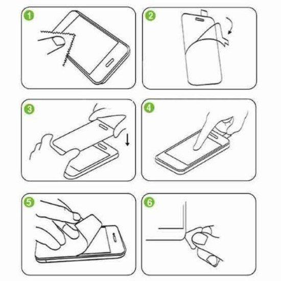 Case2go Motorola Moto G7 Plus - Tempered Glass Screenprotector - 2.5D
