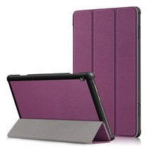 Lenovo Tab M10 Hoes - Tri-Fold Book Case - Paars