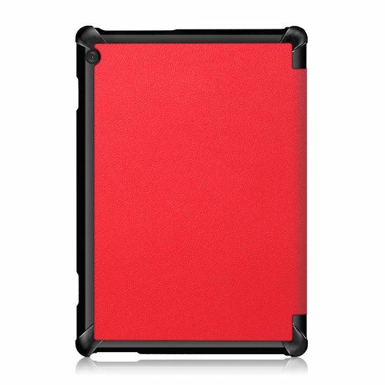 Case2go Lenovo Tab M10  hoes  - Tri-Fold Book Case (TB-X605) - Rood