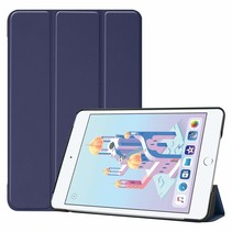 iPad Mini 2019 hoes - Tri-Fold Book Case - Donker Blauw