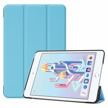 iPad Mini 2019 hoes - Tri-Fold Book Case - Licht Blauw