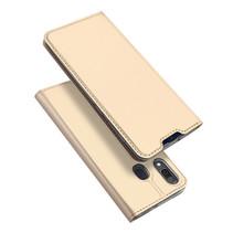 Samsung Galaxy A30 hoesje - Dux Ducis Skin Pro Book Case - Goud