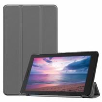 Lenovo Tab E8 hoes (TB-8304F) - Tri-Fold Book Case - Grijs