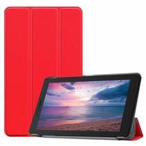 Lenovo Tab E8 hoes (TB-8304F) - Tri-Fold Book Case - Rood